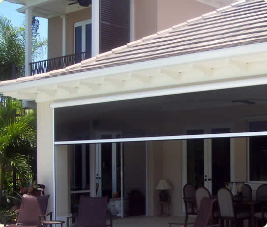 Retractable doors phantom screens are perfect for single for Automatic retractable screens